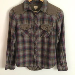Wilfred Free Aritzia Long Sleeve Flannel Button Up